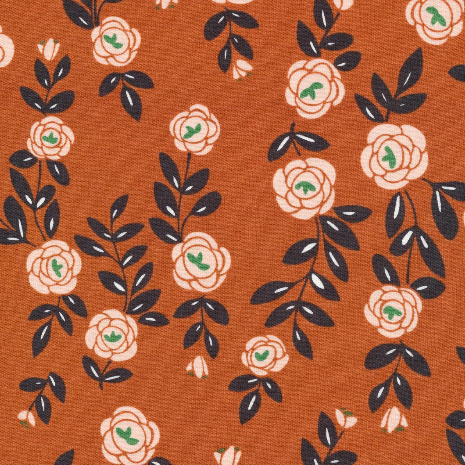 Rose Vines, Light Brick, Fanciful