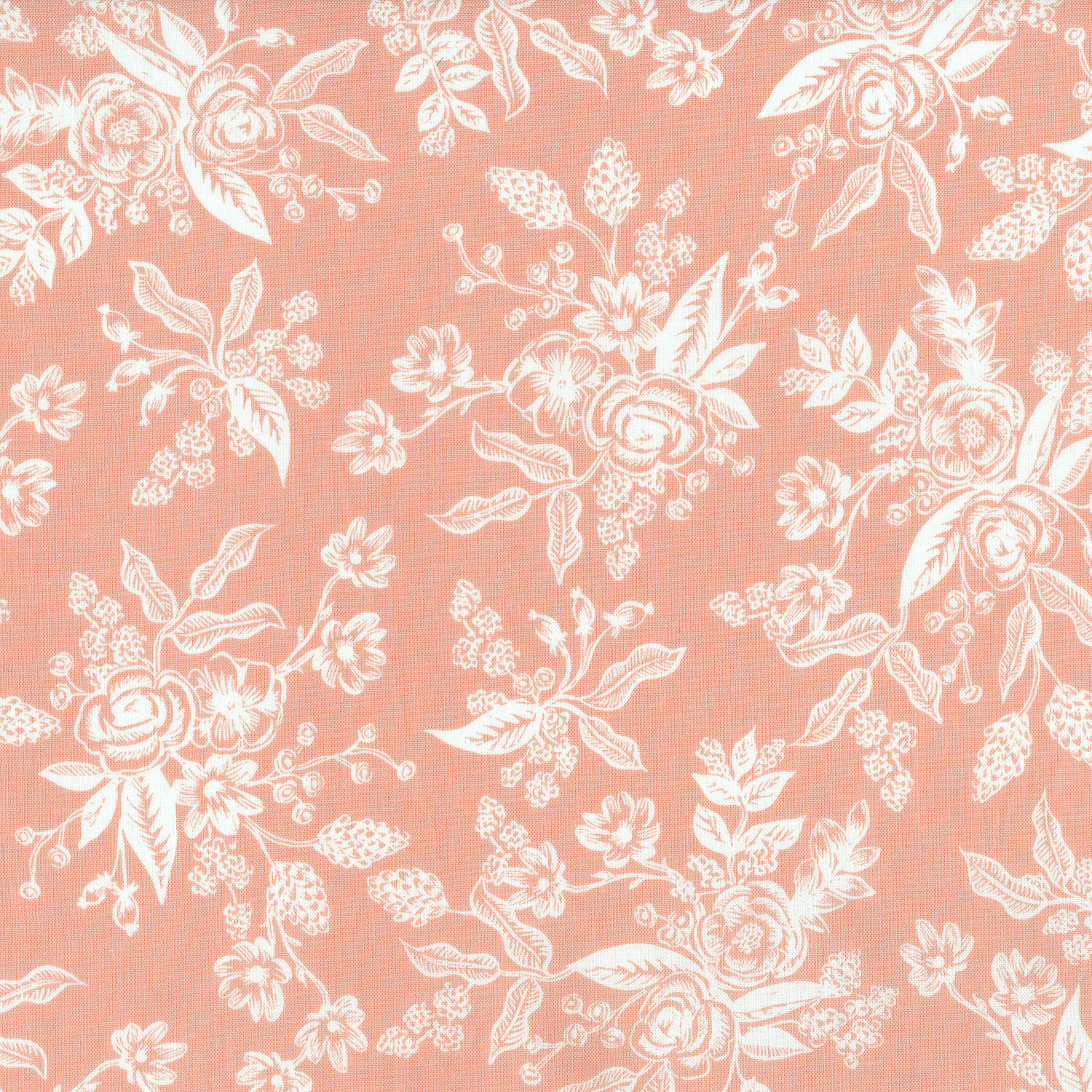 Toile, Peach, English Garden