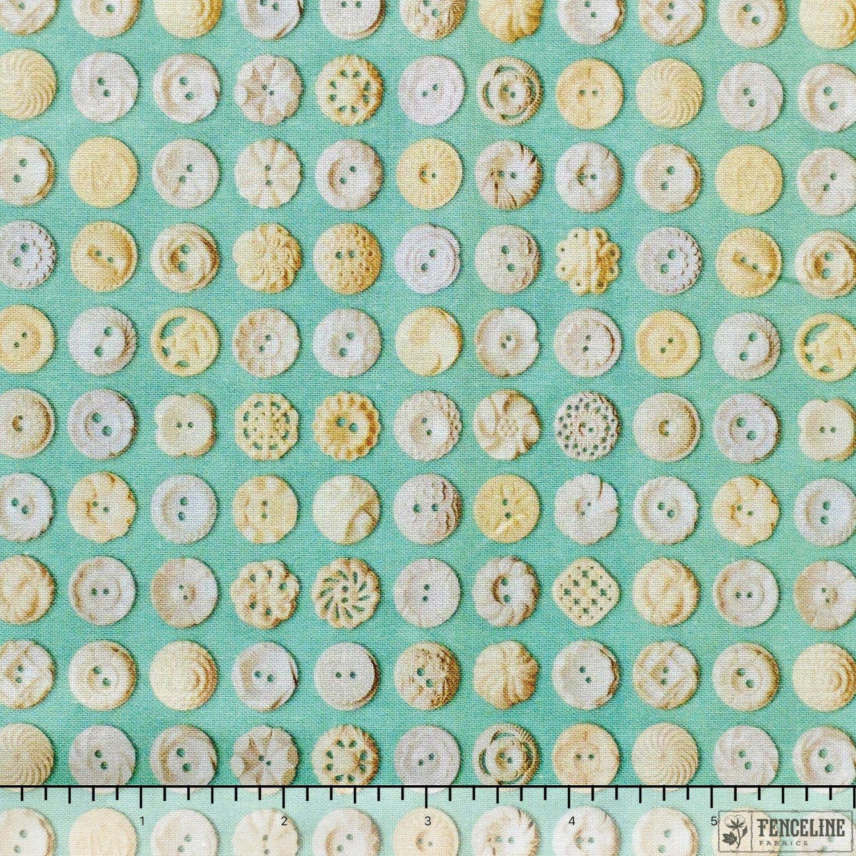 Patina Cream, Buttons, Flea Market Mix