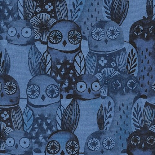 Wise Owls, Blue, Eclipse