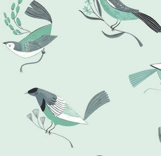 Birds, Mint, Perch