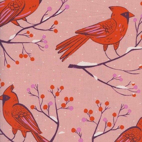 Winter Cardinals, Pink, Frost