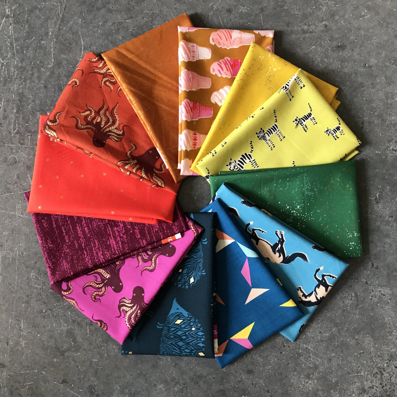 Ruby Star Society Rainbow Fat Quarter Bundle