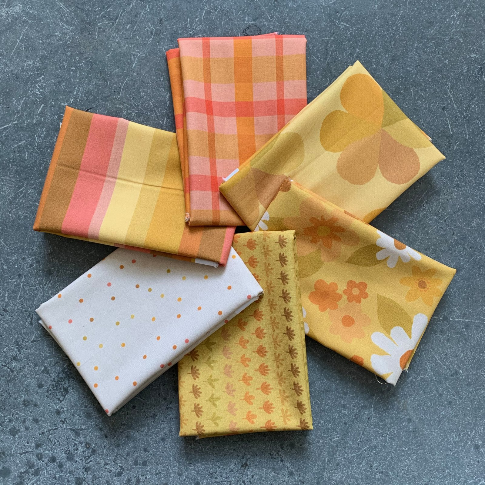 Mod Yellow 1/2 Yard Bundle