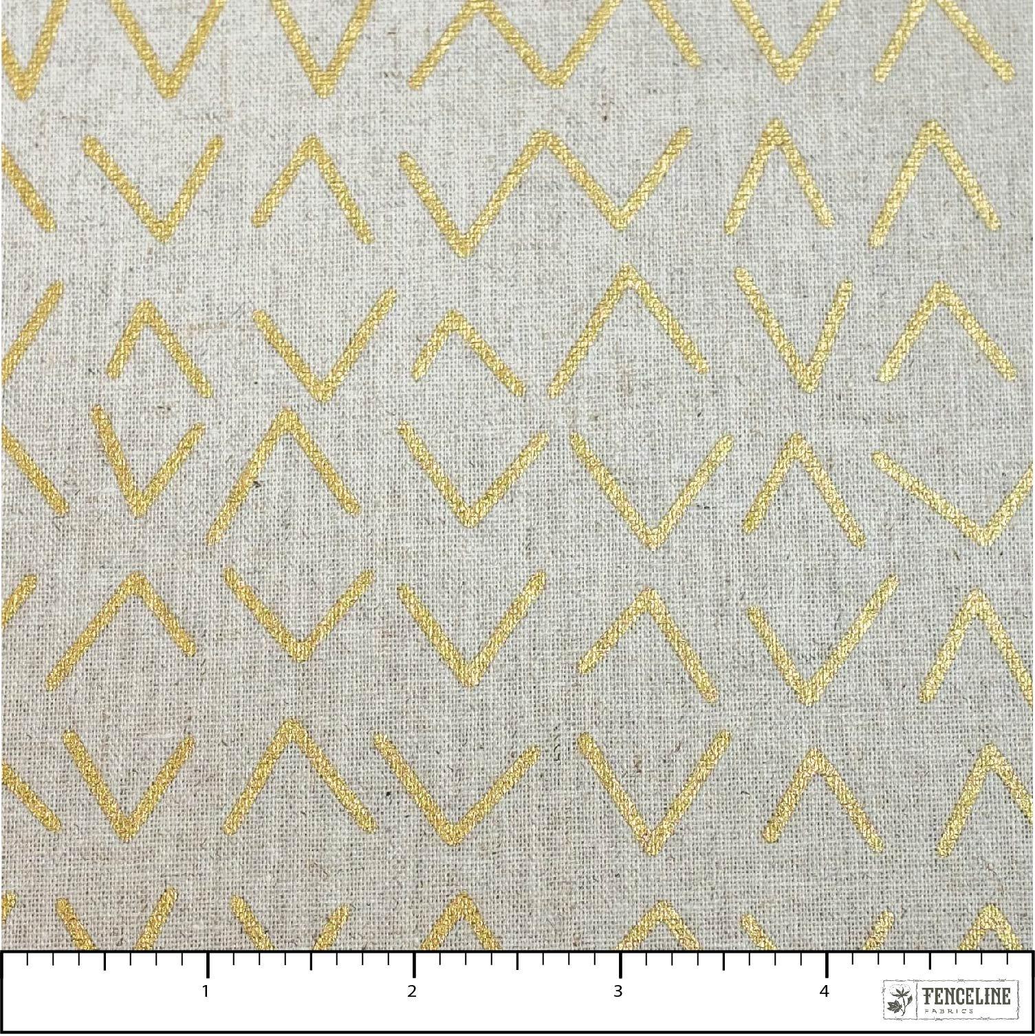 Linen Gold Triangles, Chill Mochi Linen
