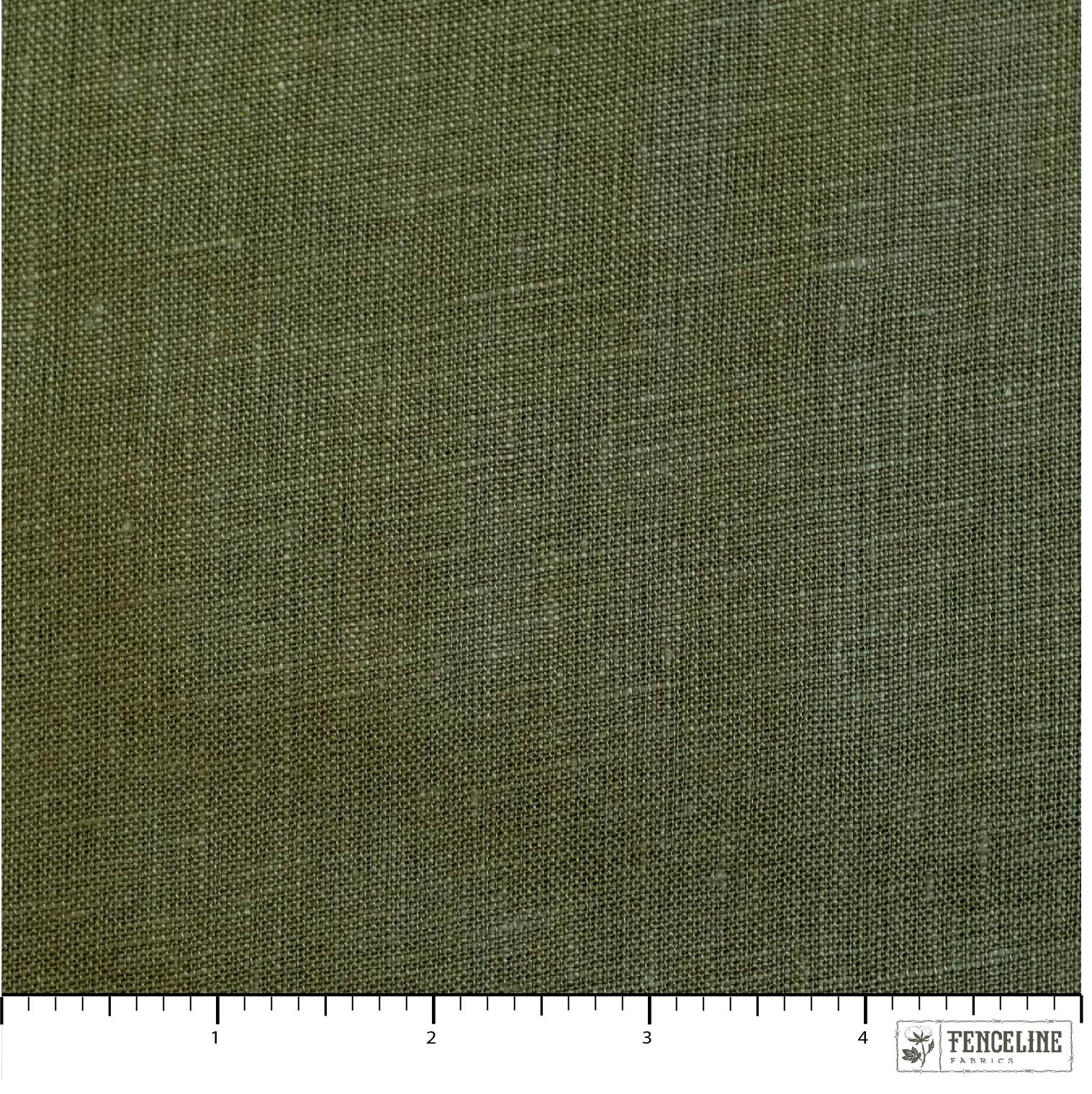 Organic Solid Linen, Jungle Green, Birch