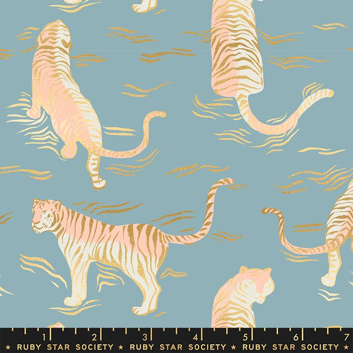 Tigress, Metallic Soft Blue, Tiger Fly