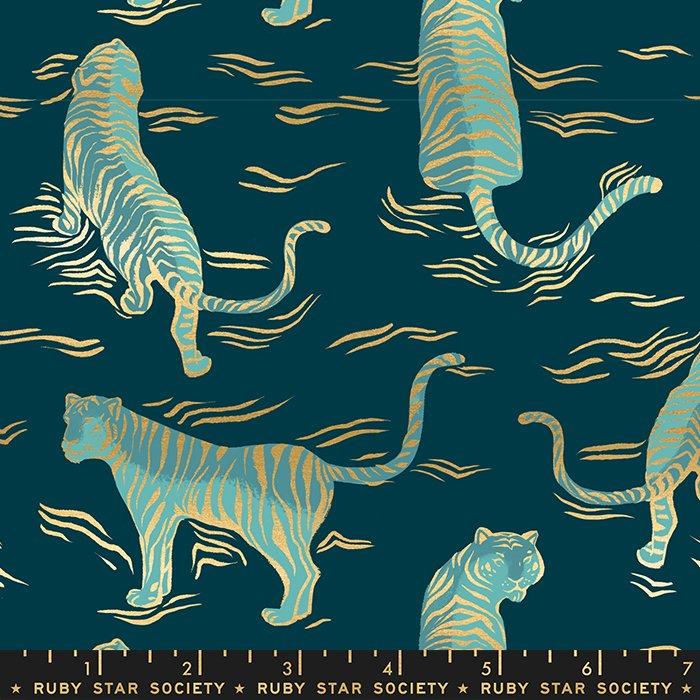 Tigress, Metallic Dark Teal, Tiger Fly