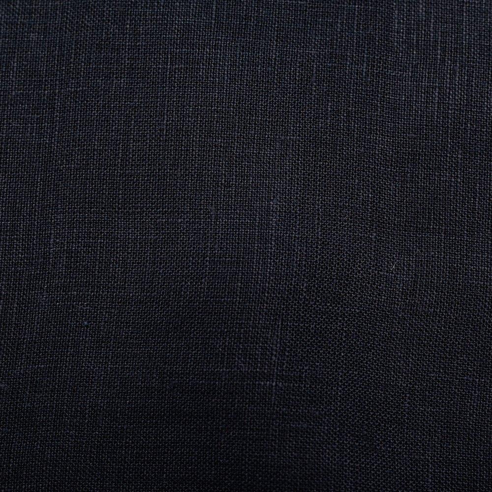 Organic Solid Linen, Black, Birch