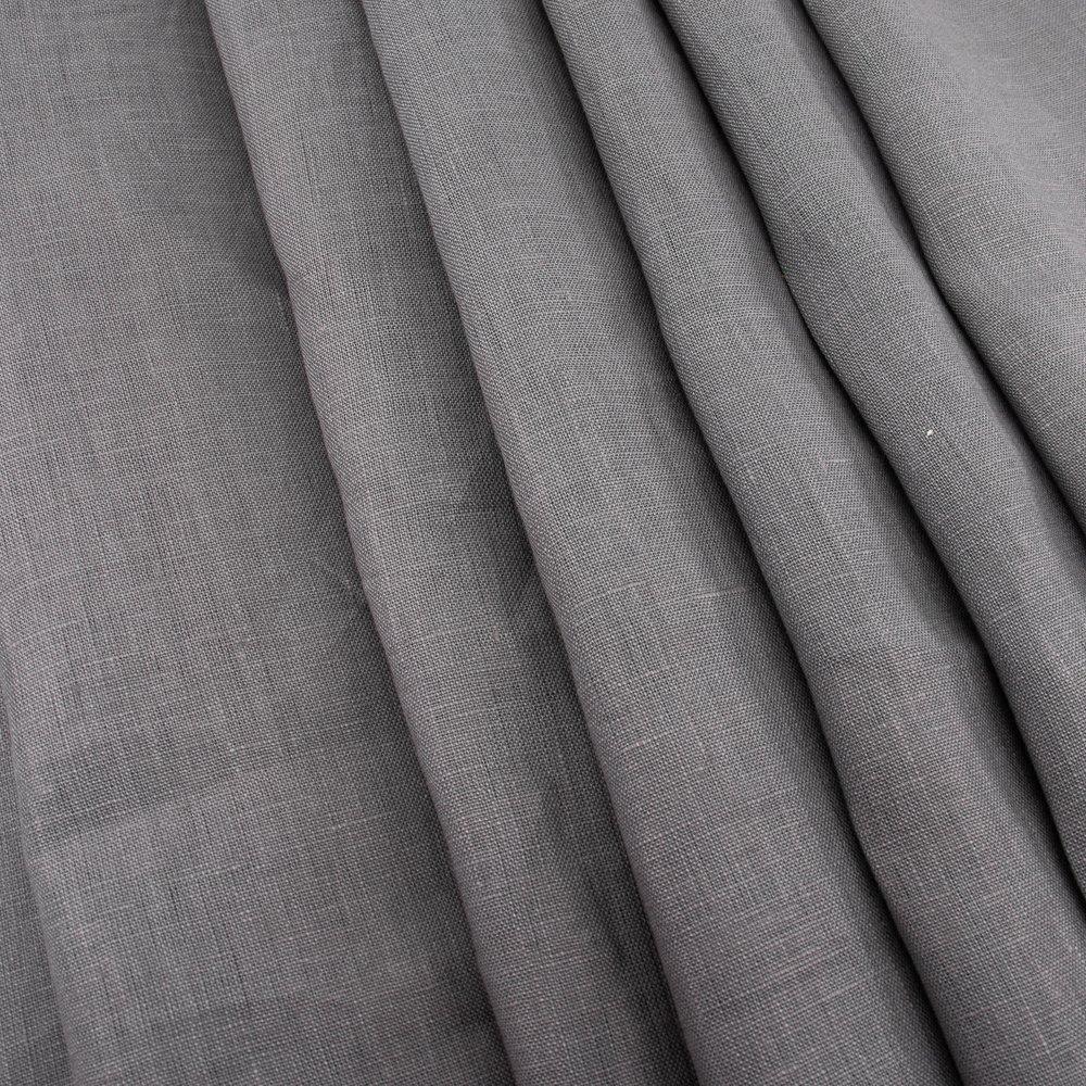 Organic Solid Linen, Charcoal, Birch