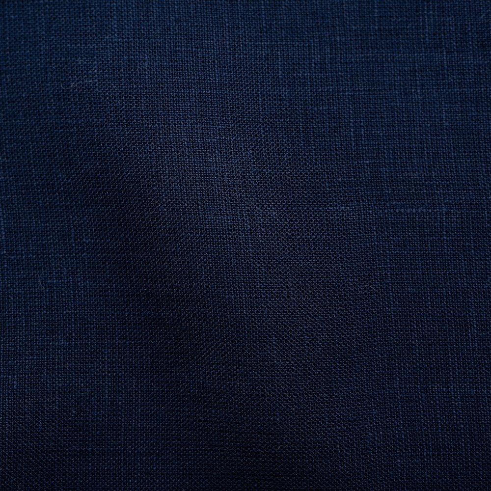 Organic Solid Linen, Navy, Birch
