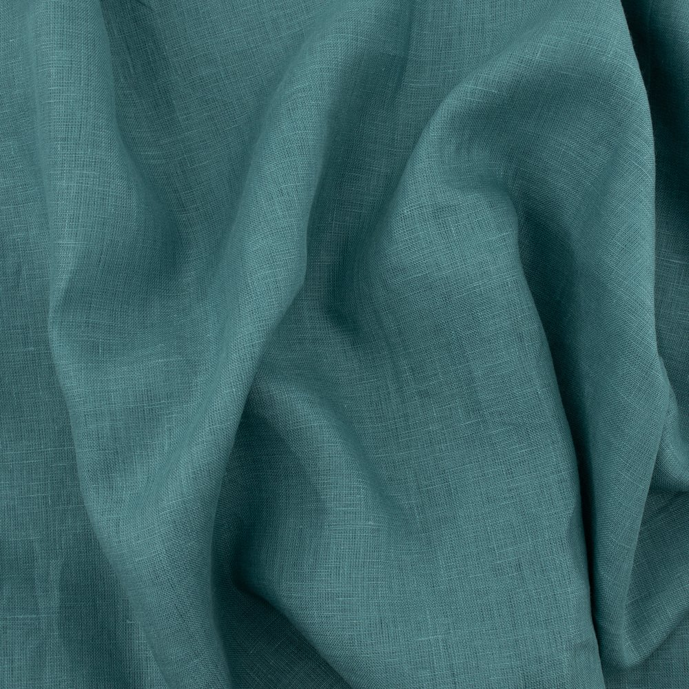 Organic Solid Linen, Pacific Blue, Birch