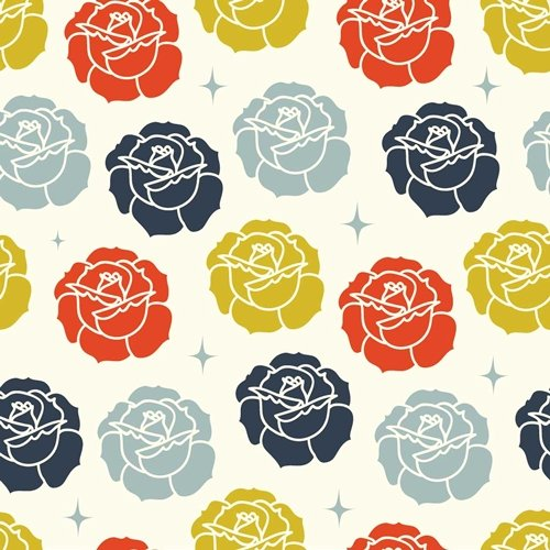 Stamped Rose, Cream, Tall Tales