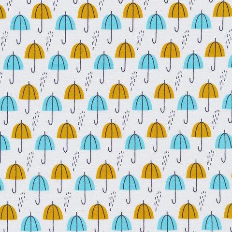 Umbrella Rain, Gold, Spring Walk