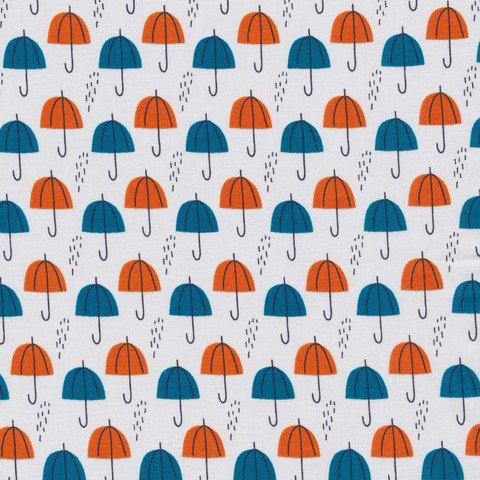 Umbrella Rain, Orange, Spring Walk