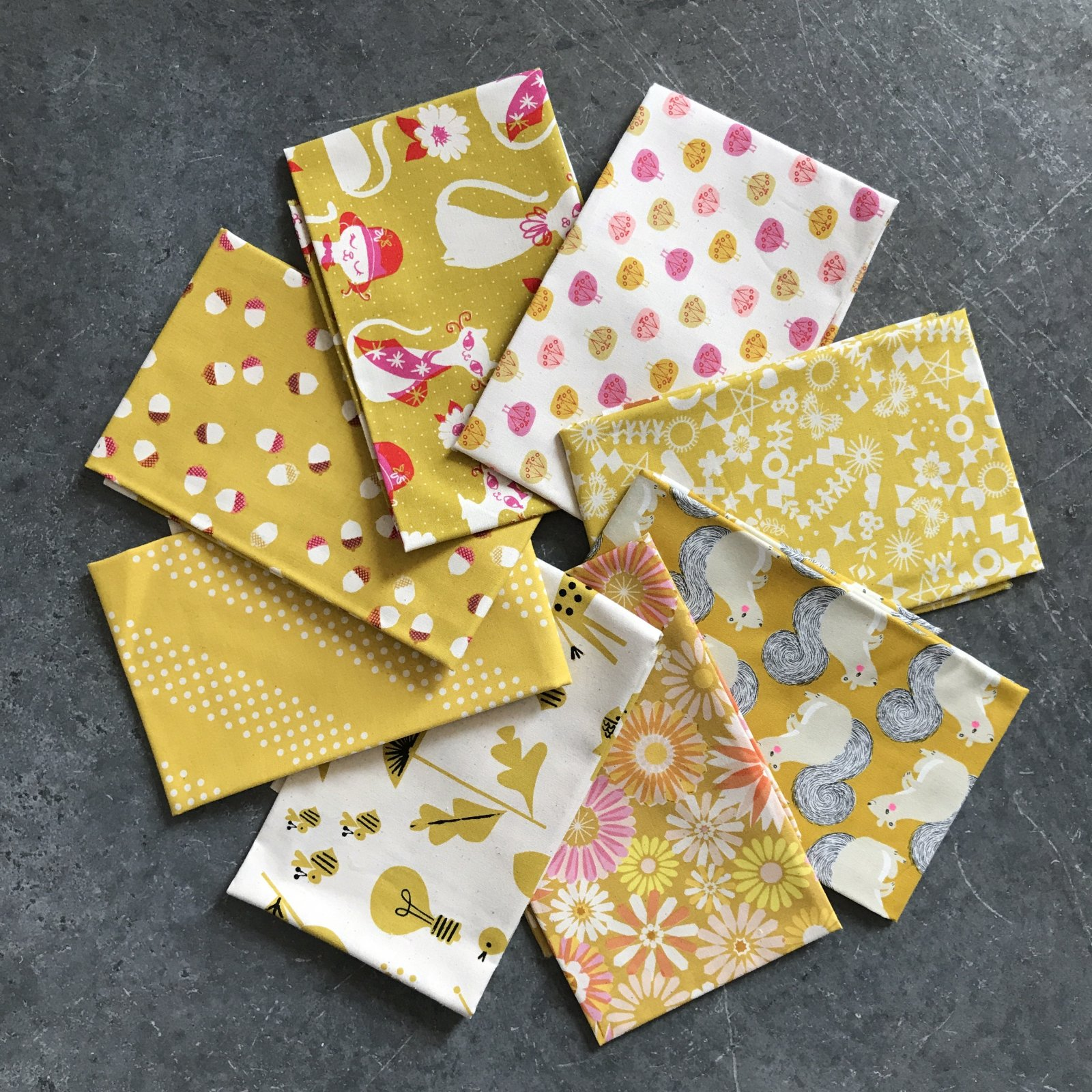 Yellow C+S Fat Quarter Bundle