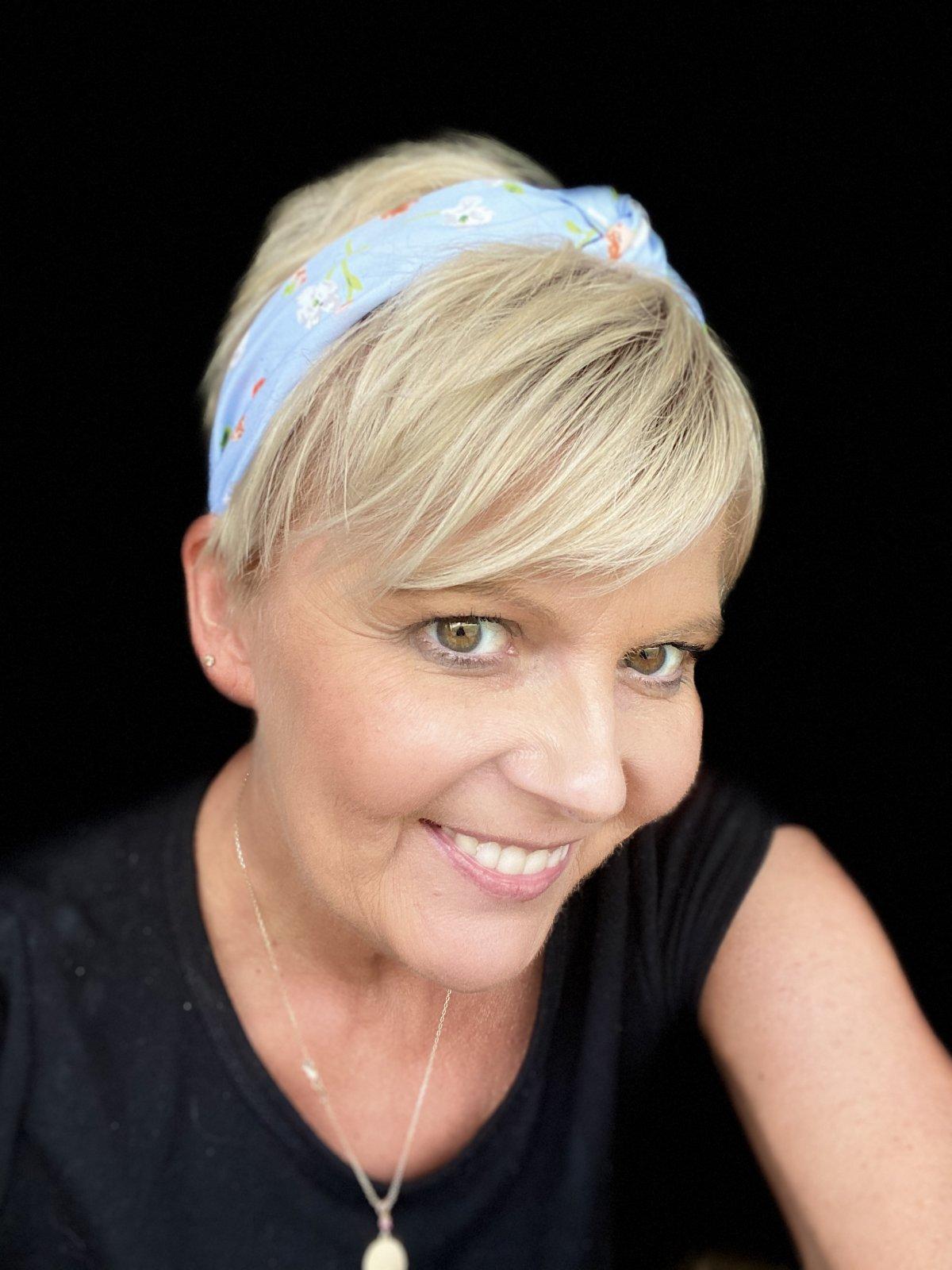 baby blue floral headband