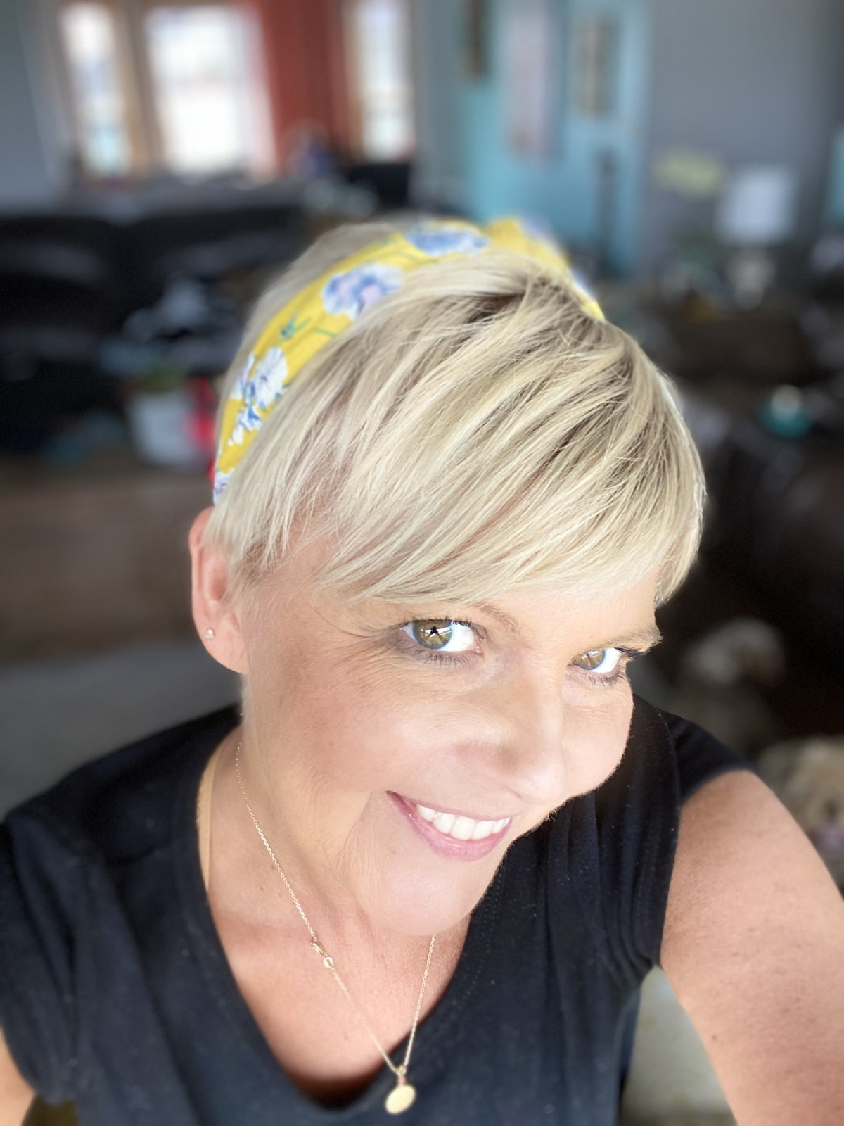 yellow floral headband