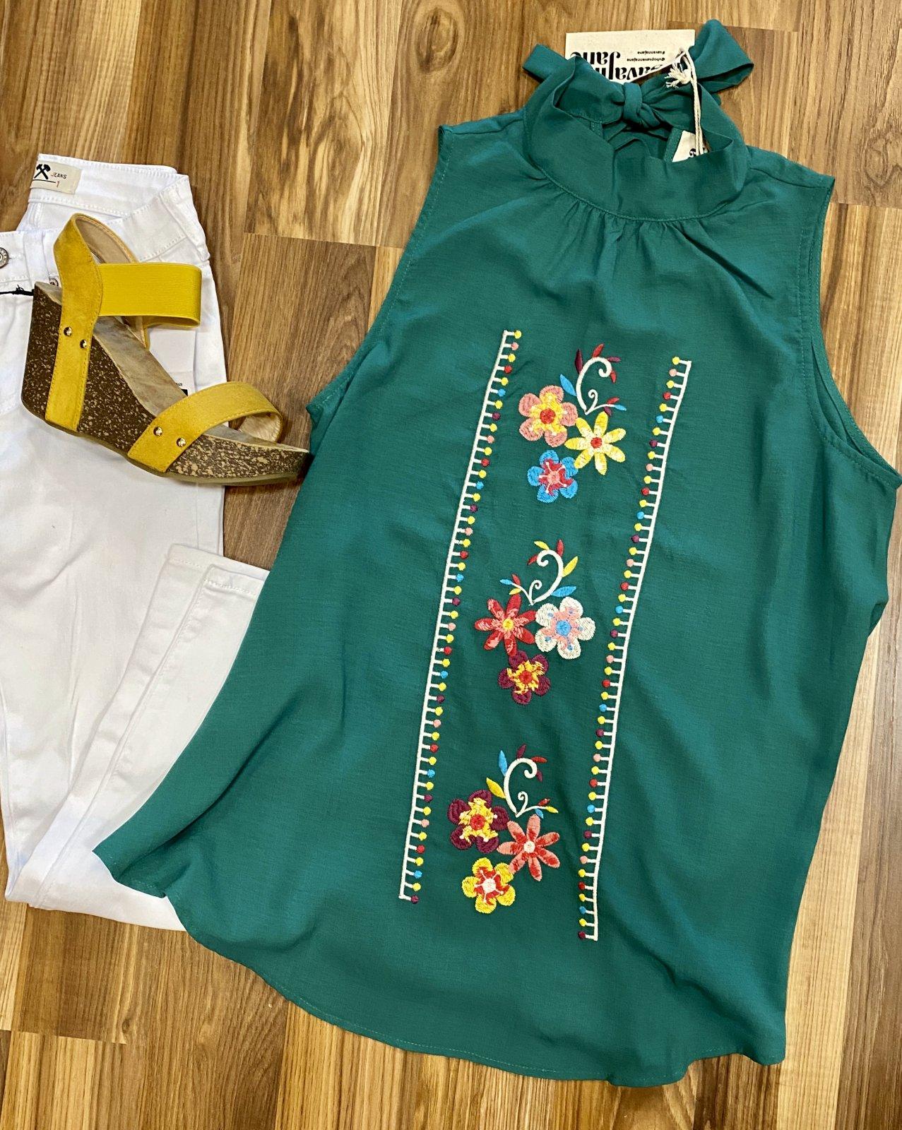 Savanna Jane embroidered sleevless