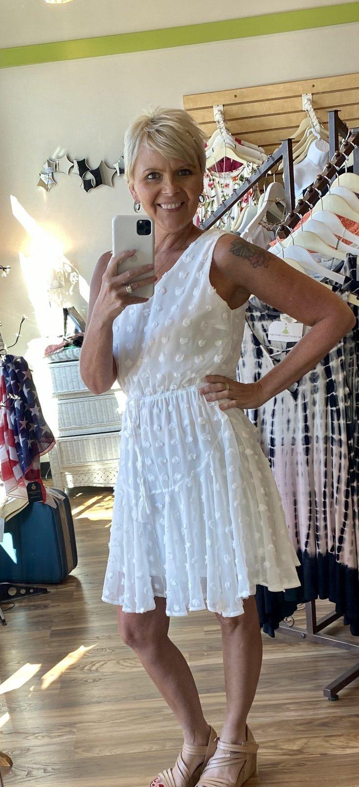 white fun dress she & sky