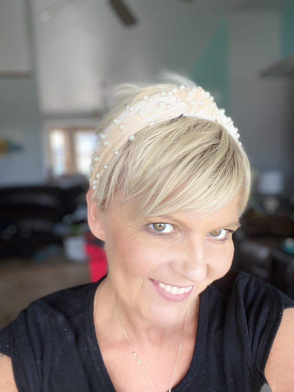 rose pearl headband