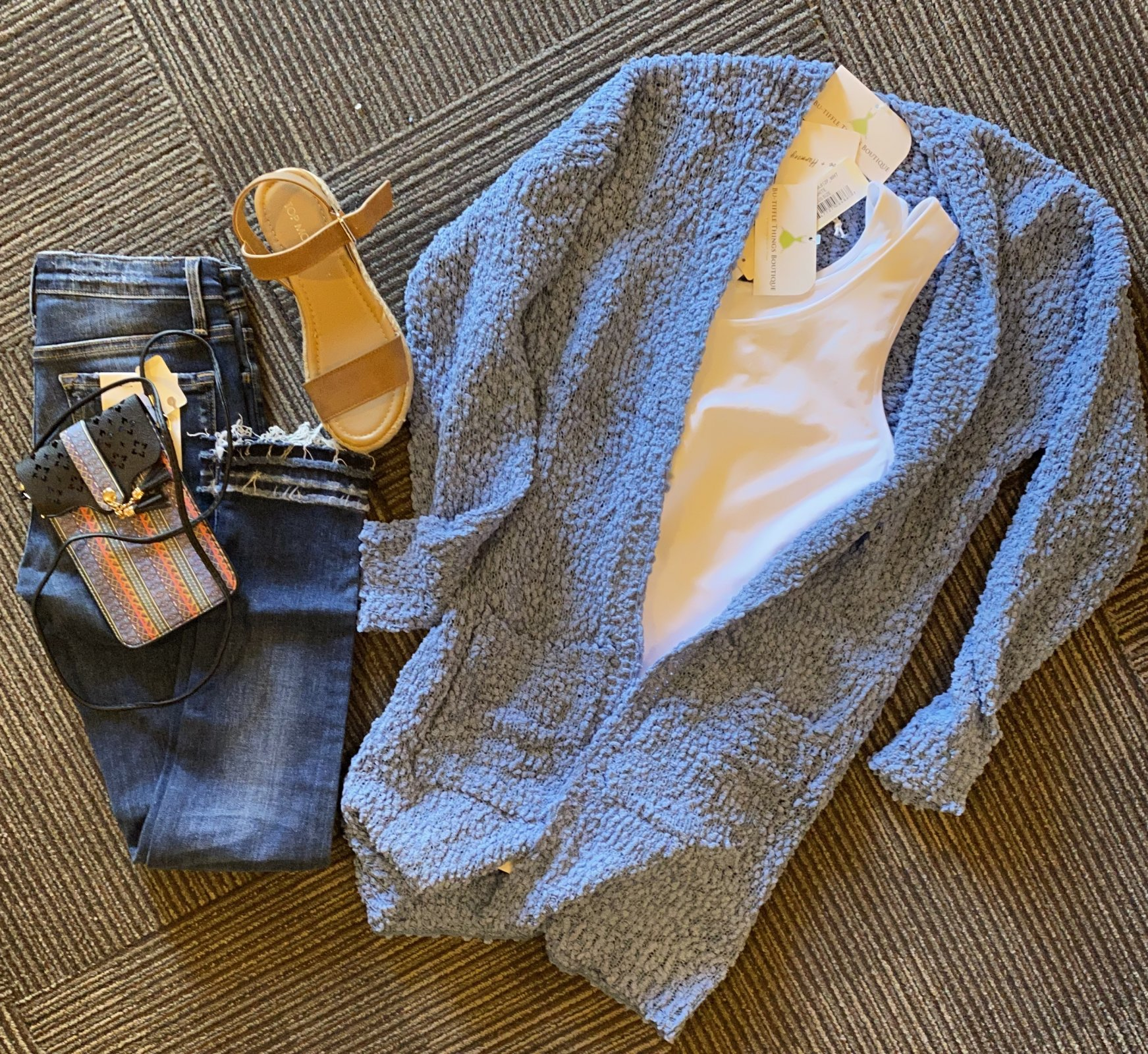 cottonball style sweater blue