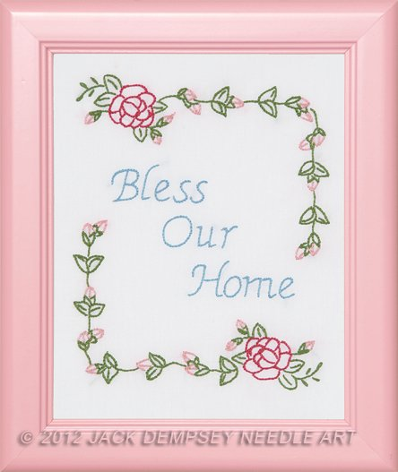 0161-418 8 x 10 (9 x11) Sampler (pr) Bless Our Home