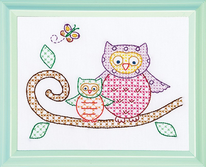 0161-506 8 x 10 (9 x11) Sampler (pr) Owls