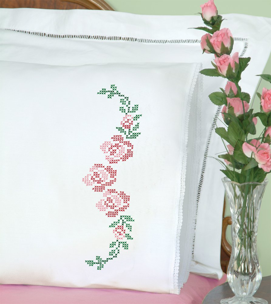 1800-PILLOWCASE WITH LACE EDGE (1 pair)-0477