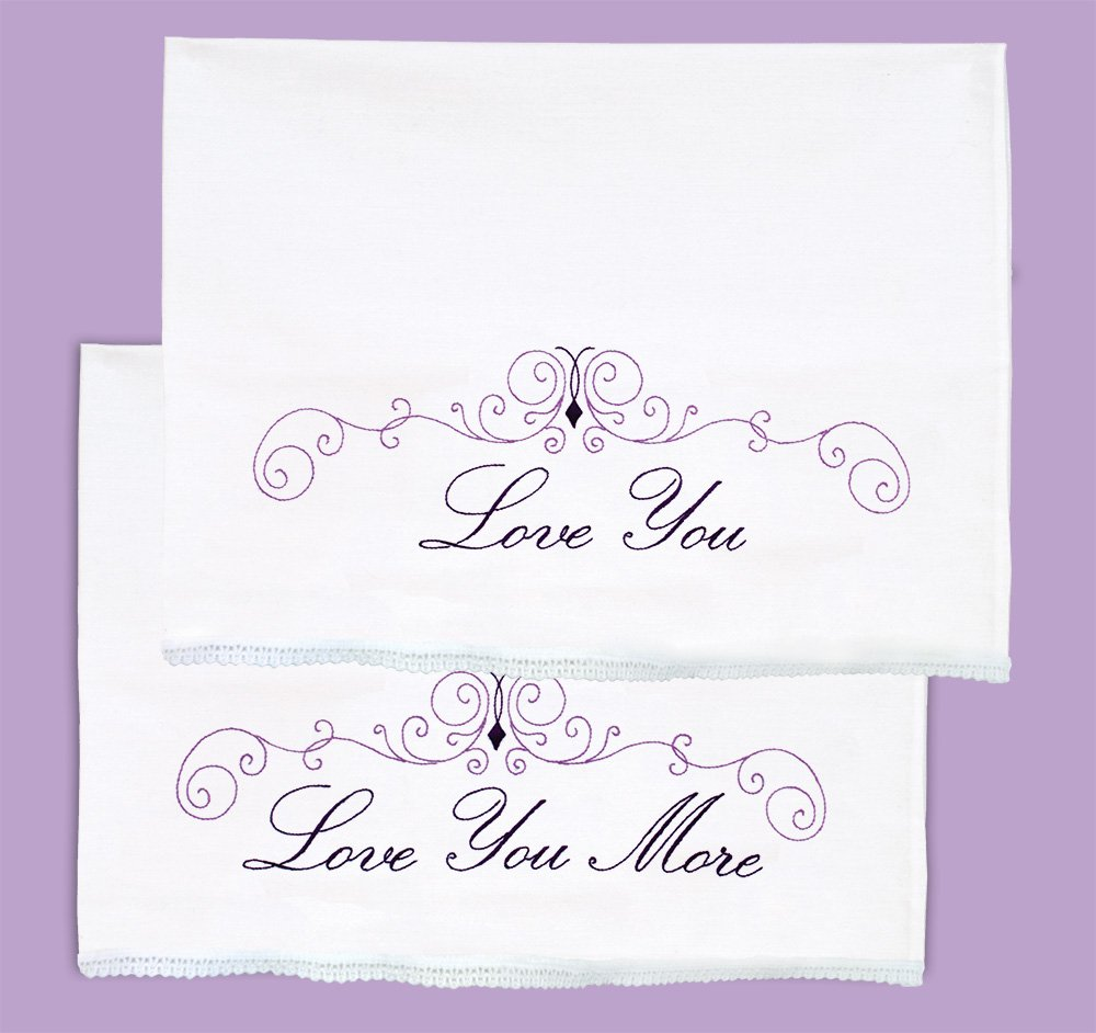 1800-PILLOWCASE WITH LACE EDGE (1 pair)-0633