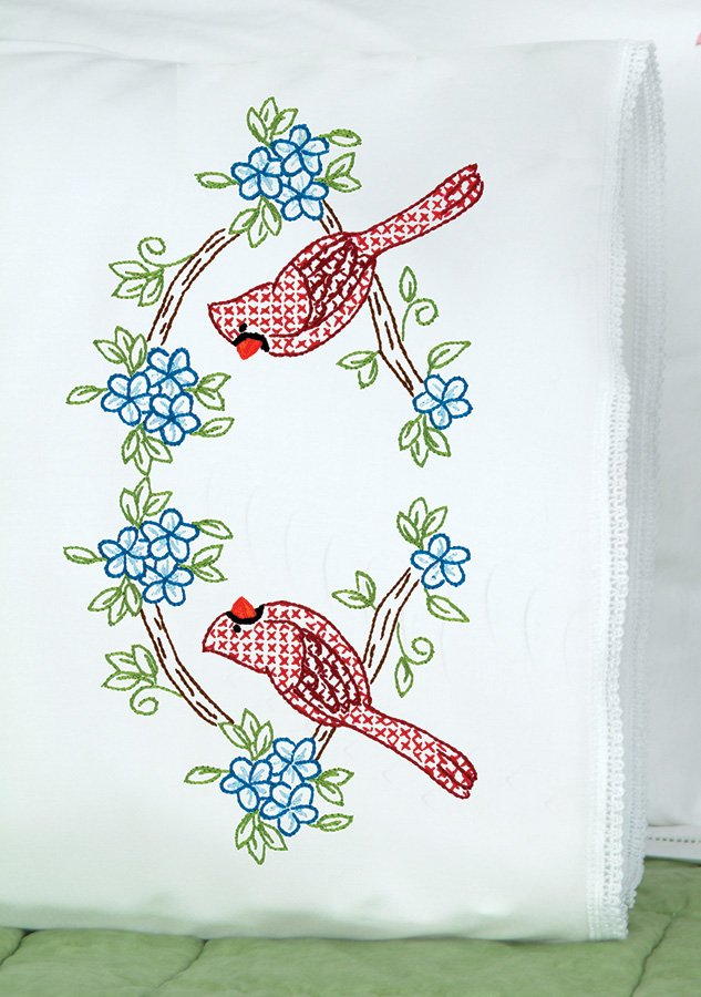 1800-PILLOWCASE WITH LACE EDGE (1 pair)-0712