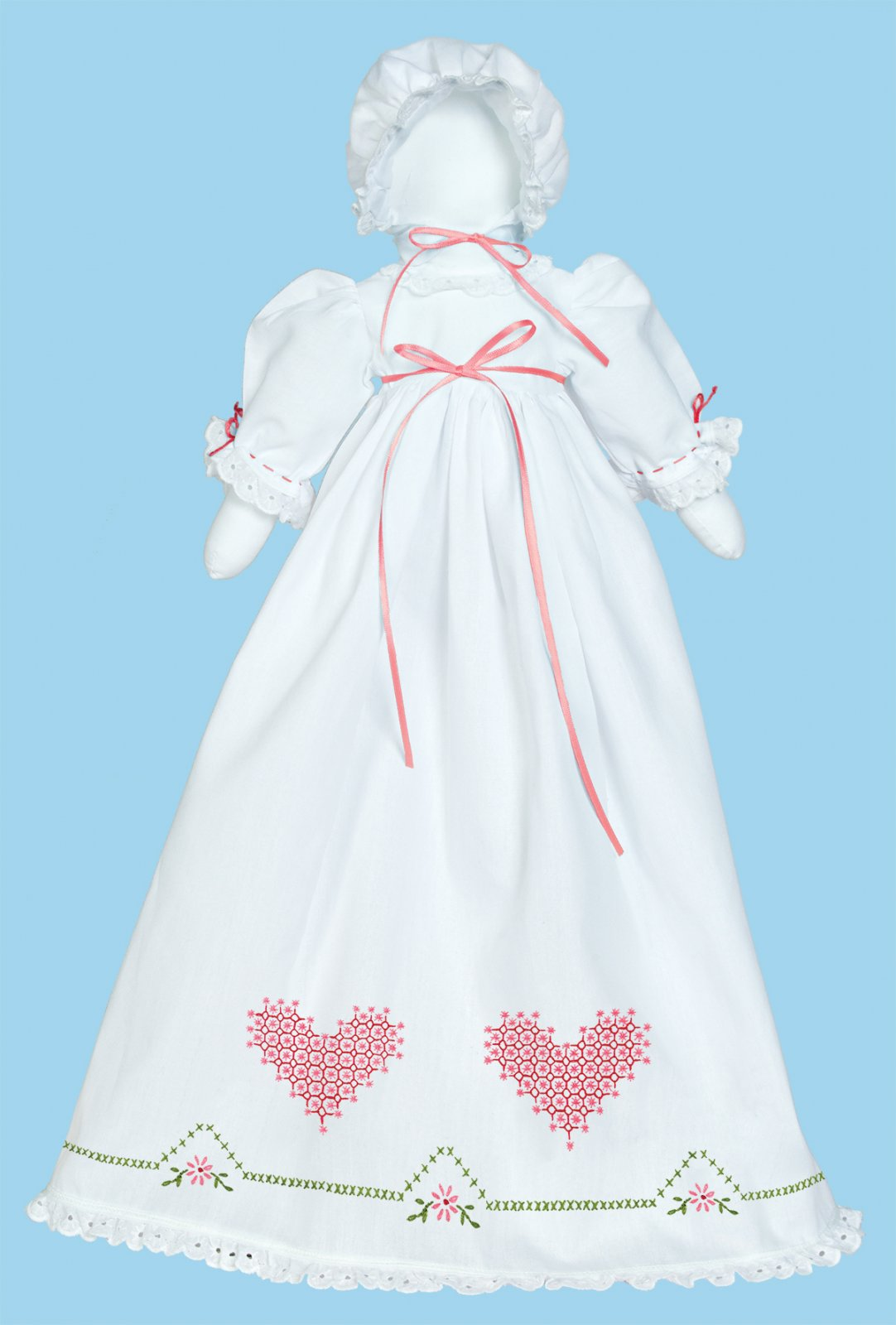 1900-PILLOWCASE DOLL KIT (Dress Bonnet Doll pieces)--0514