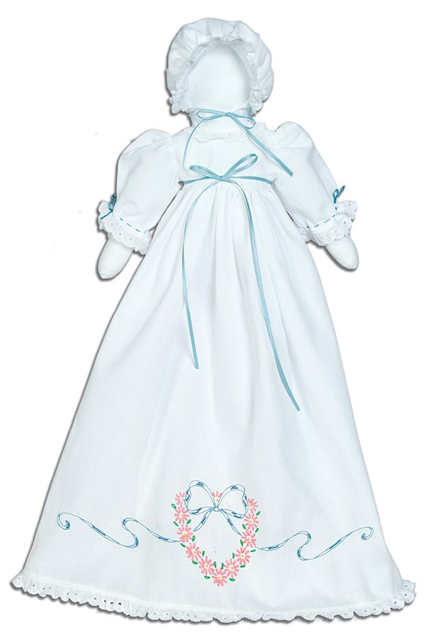 1900-PILLOWCASE DOLL KIT (Dress Bonnet Doll pieces)--0746