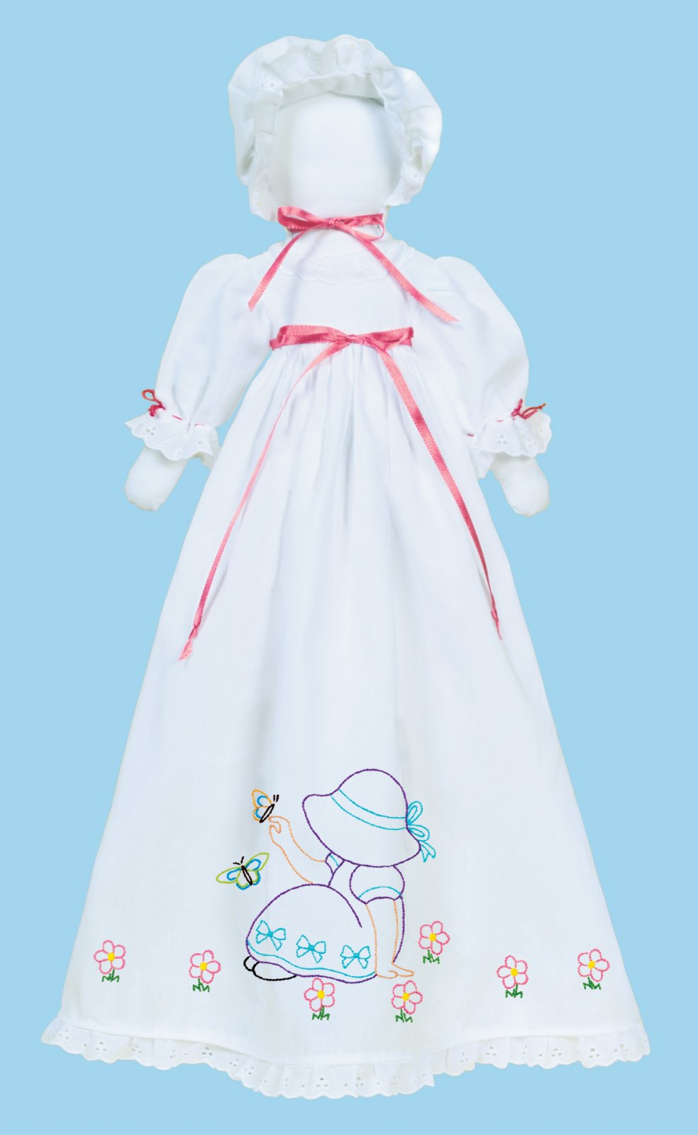1900-PILLOWCASE DOLL KIT (Dress Bonnet Doll pieces)--0891