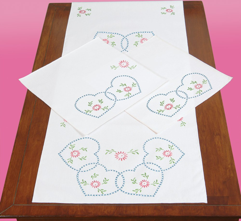 0448-SCARF (15 x 42) AND DOILY SET (12 x 12) (2 CT) -0033