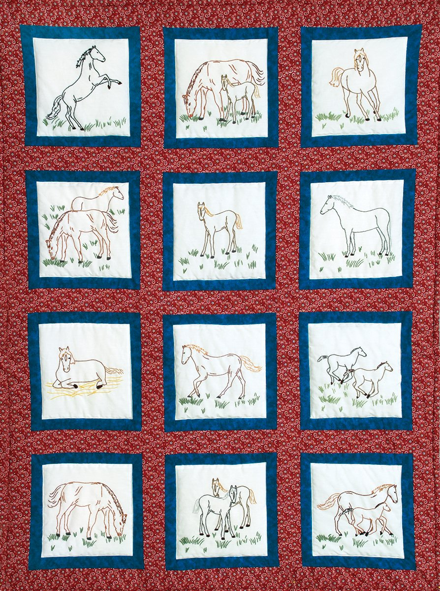 0737-9  THEME QUILT BLOCKS-(12 CT)-0342