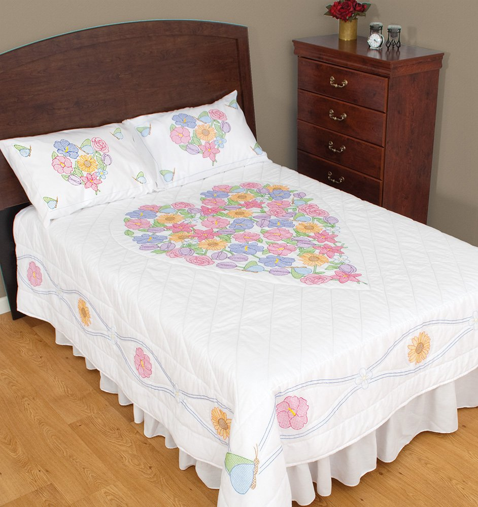 770-FULL/ QUEEN QUILT (Finished 92 x 101 & 1 Pair Shams)-0589