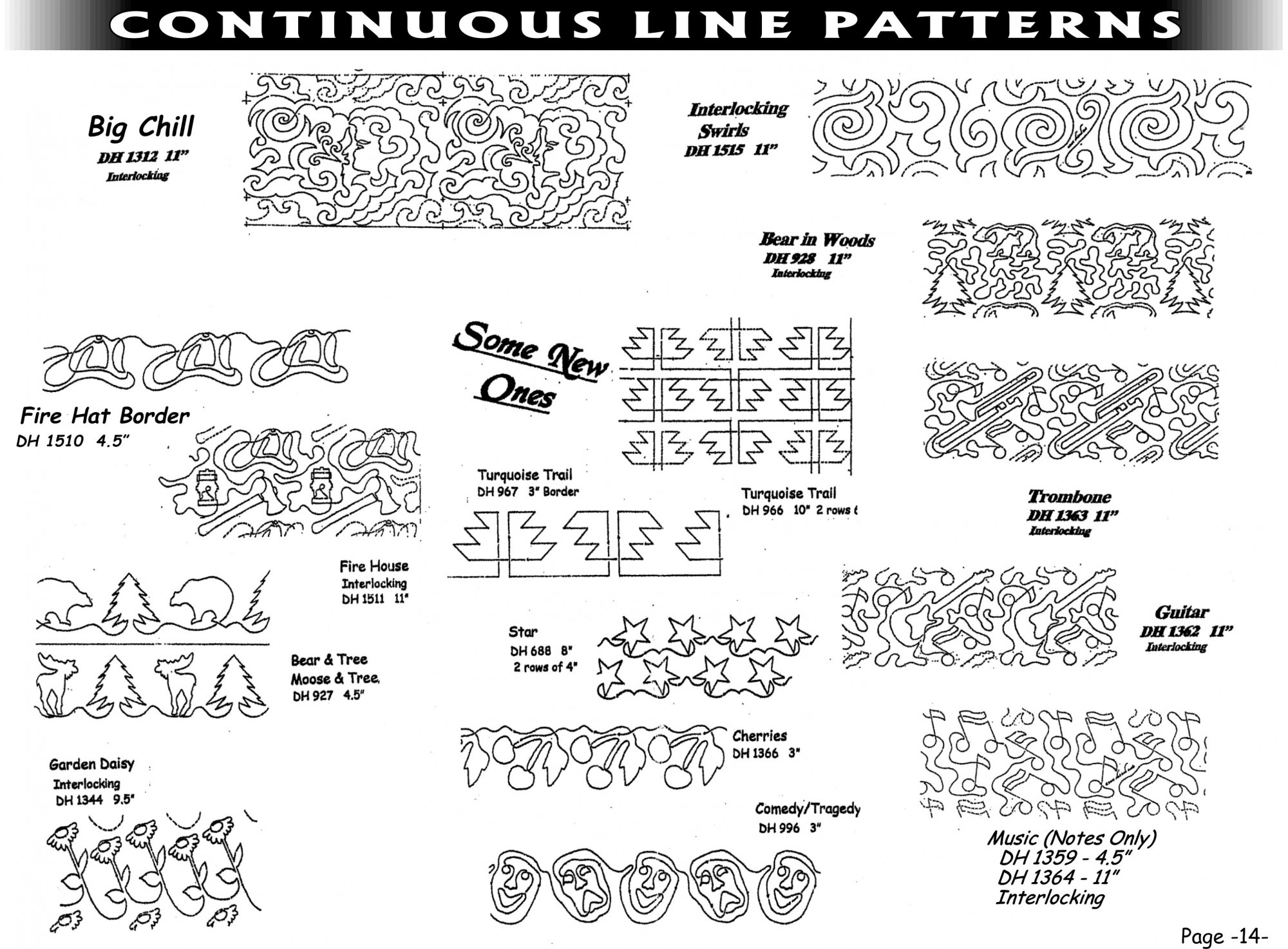 Pantographs-Continous Line Patterns-A- 2-6