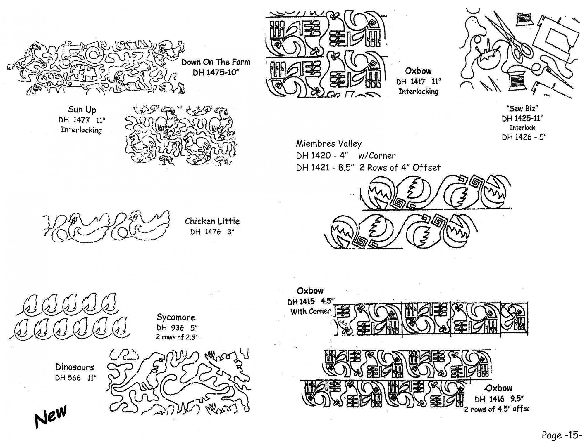 Pantographs-Continous Line Patterns-B-13-18