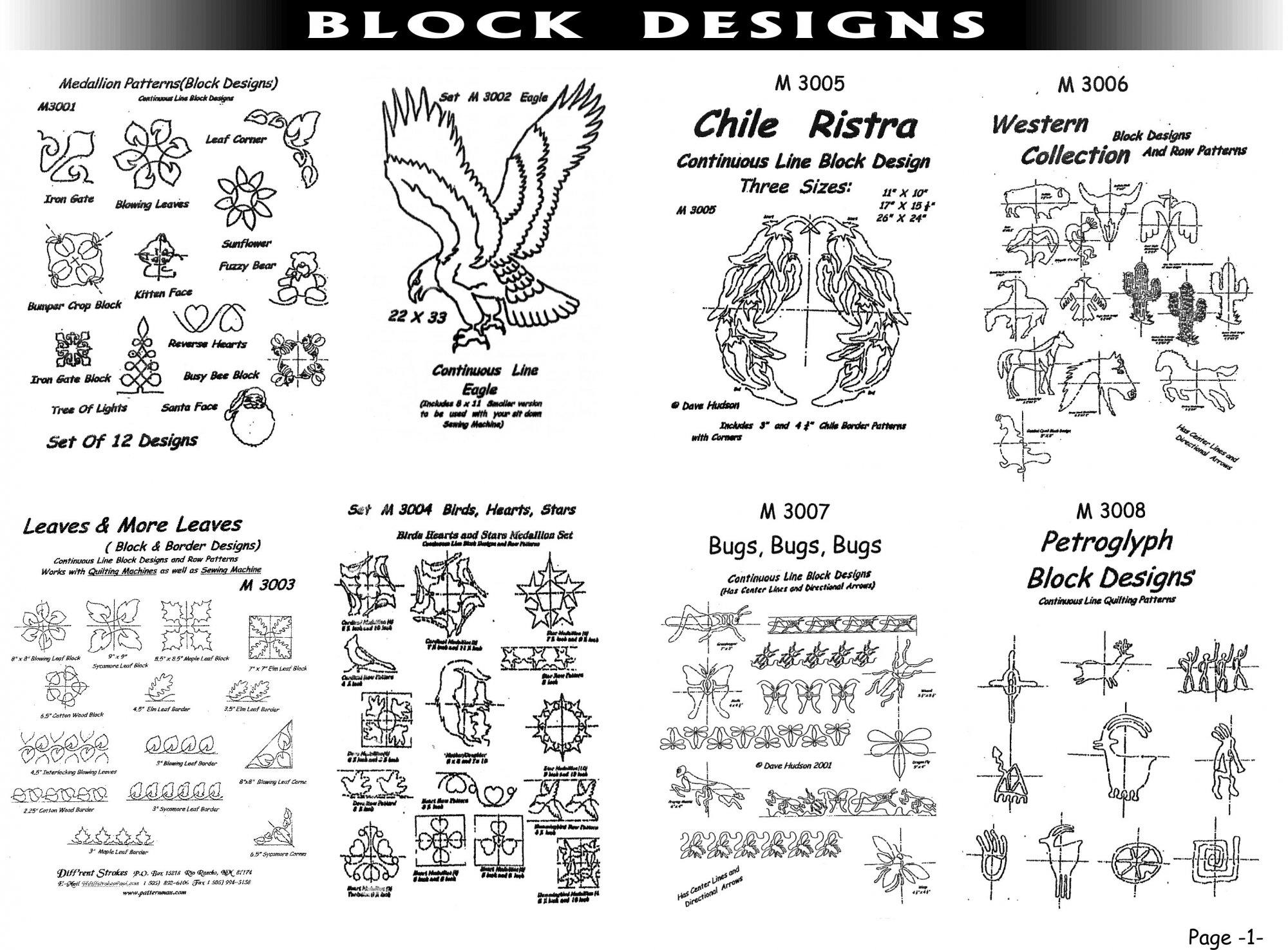 Pantographs-Block Designs-A- 2  - 6