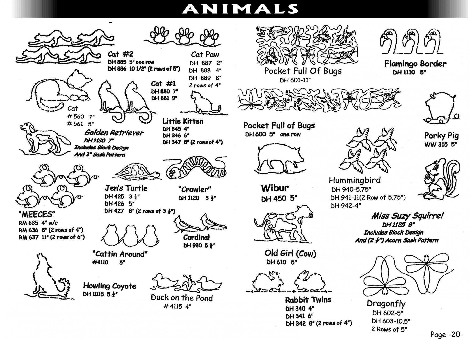 Pantographs-Animals-A- 2-6