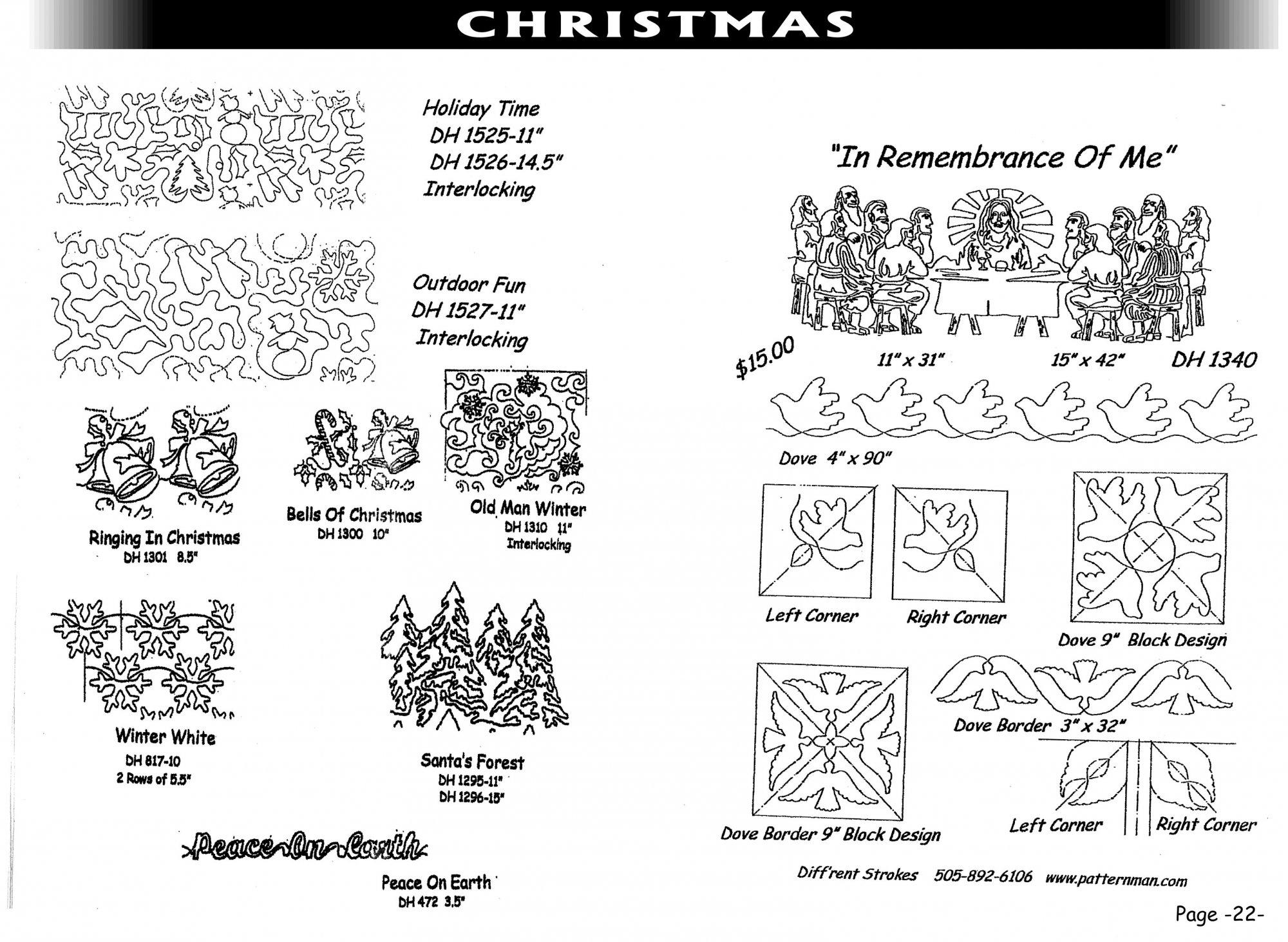 Pantographs-Christmas-A- 6 1/2 -12