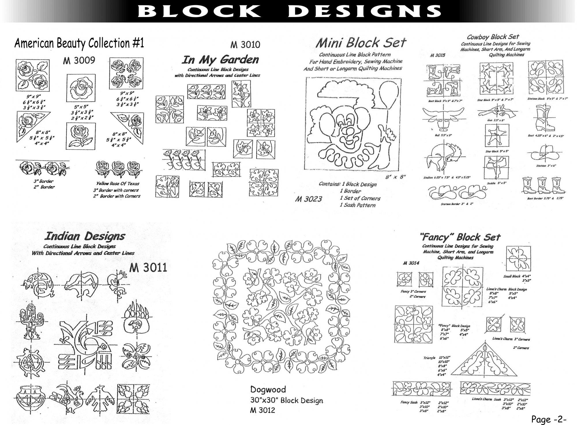 Pantographs-Block Designs-B- 2  - 6