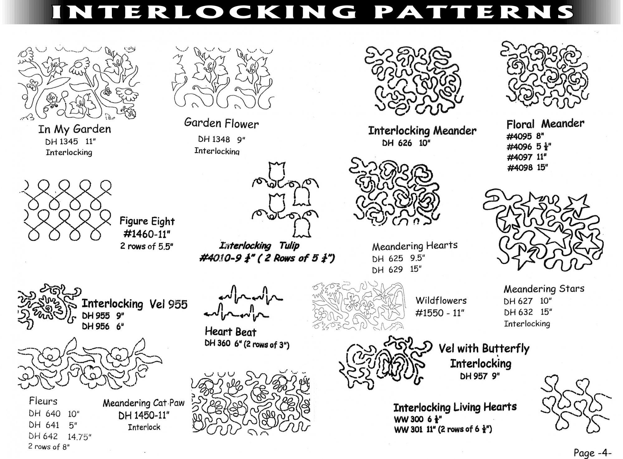 Pantographs-Interlocking Patterns-A- 6 1/2  - 6