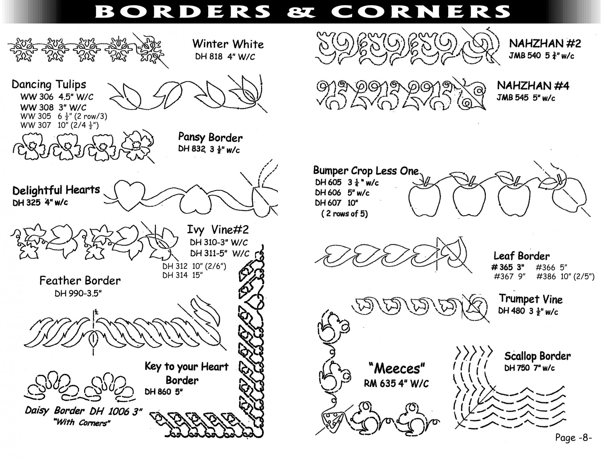 Pantographs-Borders&Corners-A-13-18