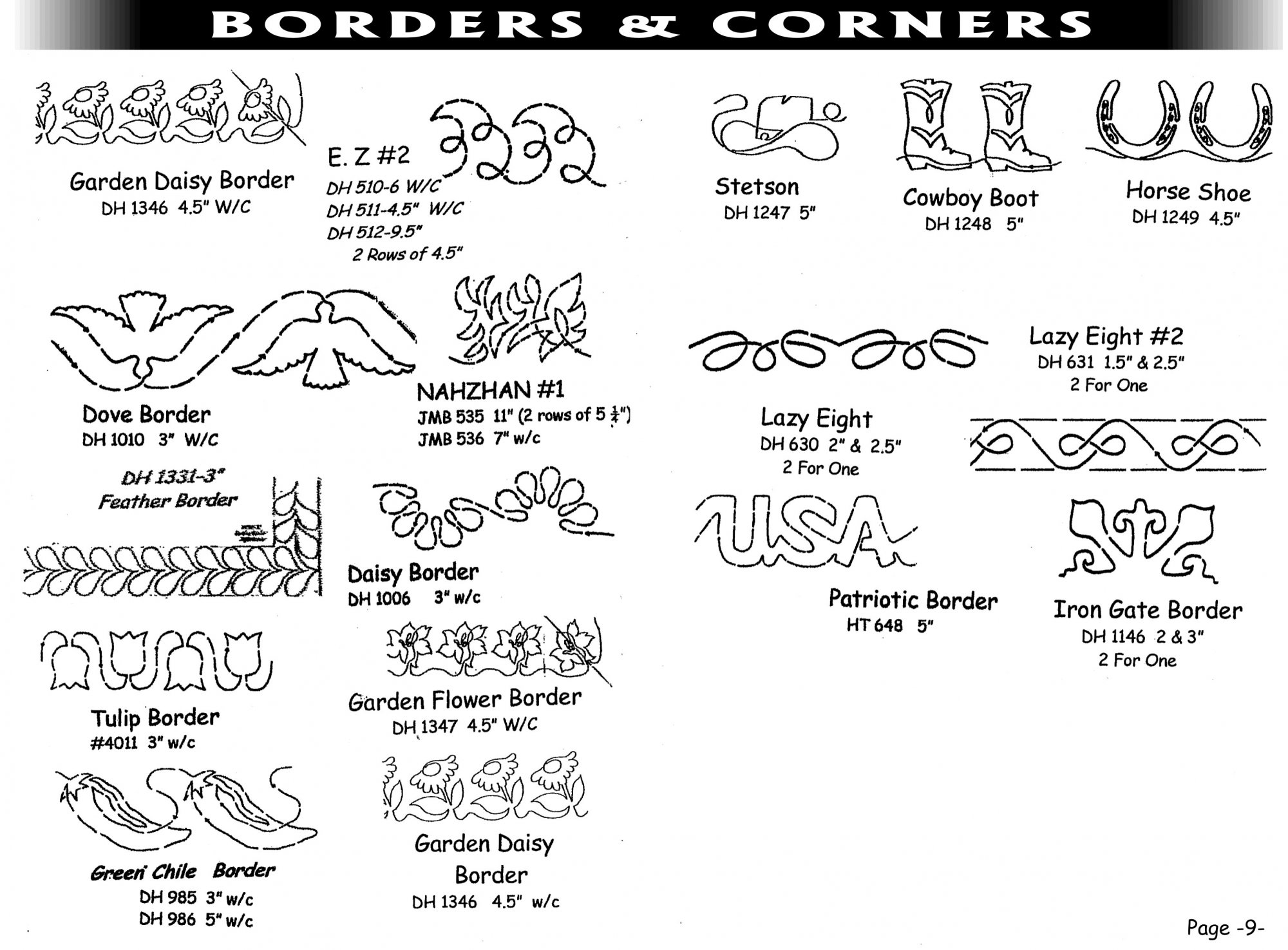 Pantographs-Borders&Corners-A- 6 1/2 -12