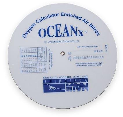 NAUI OCEANX NITROX CALCULATOR