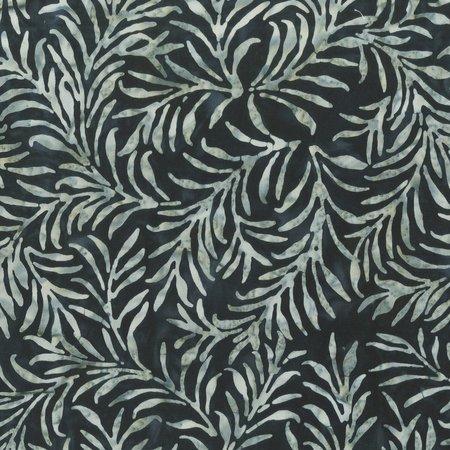 Charcoal Number 18 Leaf Life Batik by Anthology