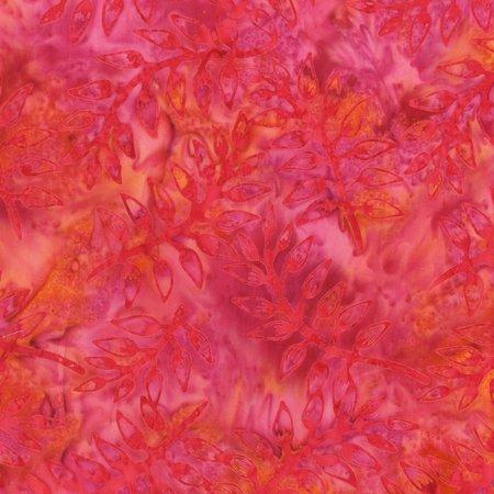 Rose Pink Leaves Batik by Anthology