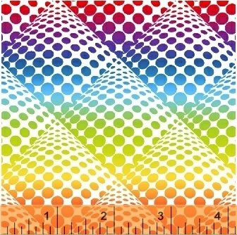 Rainbow Pop Dot Ombre by Windham